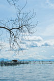 The fishery hut in the sea Royalty Free Stock Images