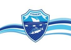 Fishery industry emblem Stock Photo
