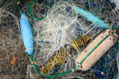 Fishery net, used Royalty Free Stock Image
