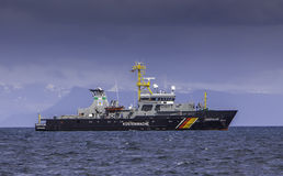 Fishery Patrol Vessel Royalty Free Stock Photography