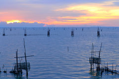 Fishery. Sea landscapes in thailand Stock Photos