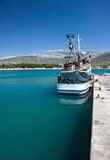 Fishery ship in a bay. Stobrec, Croatia. Royalty Free Stock Images