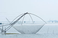 Fishery using a bamboo square dip trap Stock Photography