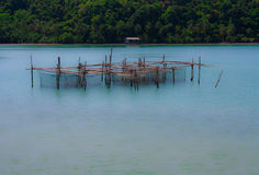Fishery village. A small fishery village in Koh chang Stock Photos