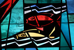 Fishes. Stain glass fish Stock Images