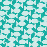 Fishes cluster seamless background Royalty Free Stock Photography