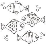 Fishes - coloring Royalty Free Stock Photos