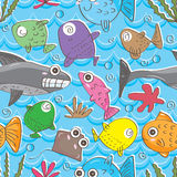 Fishes Doddle Seamless Patterm_eps Stock Photo