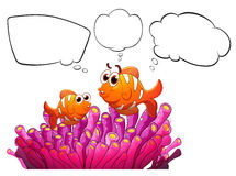 Fishes with empty thought Royalty Free Stock Photography