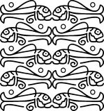 Fishes in  ethnic style Royalty Free Stock Images