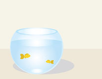 Fishes in a fishbowl. Vector illustration Royalty Free Stock Photos
