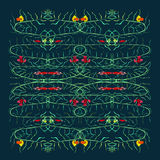 Fishes and float grass pattern illustration Royalty Free Stock Images