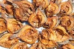 Fishes fry. Fried fishes selling in simply market Stock Photo
