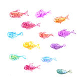 Fishes - hand drawing Stock Photography