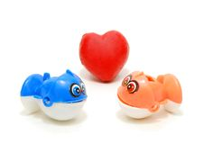 Fishes in Love Royalty Free Stock Images