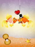 Fishes in love Royalty Free Stock Image