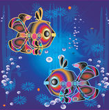 Fishes in ocean Stock Photography