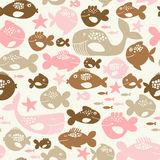Fishes pattern. Seamless pattern with colorful little fishes Stock Photography