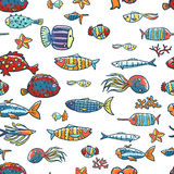 Fishes pattern Stock Image