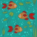 Fishes in a pond Stock Photo