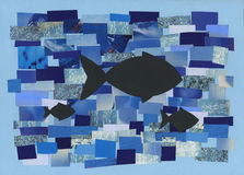 Fishes in the sea - artwork Royalty Free Stock Photos