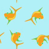 Fishes. Seamless Royalty Free Stock Image
