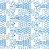 Fishes seamless pattern. stock illustration