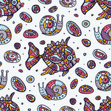 Fishes. Seamless pattern. Royalty Free Stock Photo