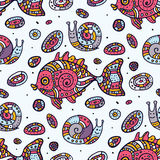 Fishes. Seamless pattern. Stock Photo