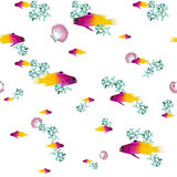 Fishes seamless pattern print Stock Photography