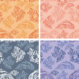 Fishes seamless pattern set - vector illustration Stock Photography