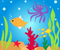 Fishes in water Stock Image