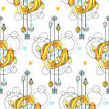Fishes Watercolor Seamless Pattern Royalty Free Stock Image