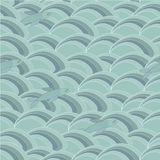 Fishes and Waves, seamless pattern Stock Image