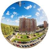 Fisheye照片城市 免版税库存图片