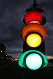 fisheye照片红色信号灯 免版税库存照片