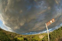fisheye ουρανός thundery Στοκ Εικόνα