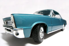 Fisheye 1965 dell'automobile del giocattolo della scala del metallo della Pontiac GTO Fotografie Stock