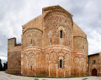 Fisheye of abbey of San Giovanni in Venere in Fossacesia (Italy). Fisheye of abbey of San Giovanni in Venere in Fossacesia (Chieti - Italy Royalty Free Stock Photos