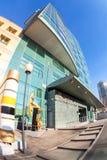 Fisheye-Ansicht des Bürogebäudes des OJSC Samaraneftegaz - Lizenzfreies Stockfoto