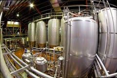 Fisheye Ansicht einer Brauerei stockbilder