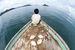 Fisheye-Ansicht von Insel Gusungan Sipadan gelegen bei Semporna, NBH lizenzfreie stockbilder