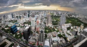 Fisheye Bangkok Lizenzfreies Stockfoto