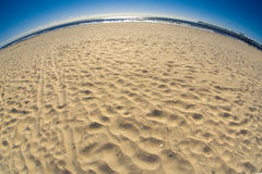 Fisheye Beach Stock Photo