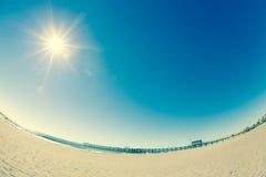 Fisheye Beach Stock Image