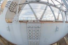 Fisheye Bridge Details Stock Image