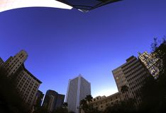 Fisheye Buildings. Downtown phoenix buildings shot with a fisheye lens royalty free stock image