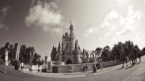 Fisheye of the castle in disney world Stock Photography