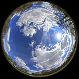 Fisheye park Stock Image