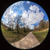Park view fisheye Royalty Free Stock Photos